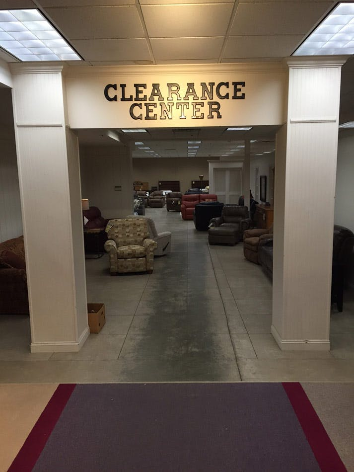 Save on clearance items trade mart the furniture center for Clearance furniture mn