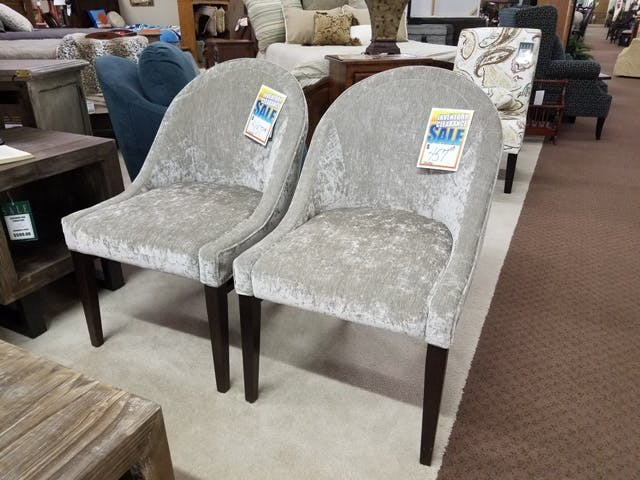 Justice Furniture Silver Chairs
