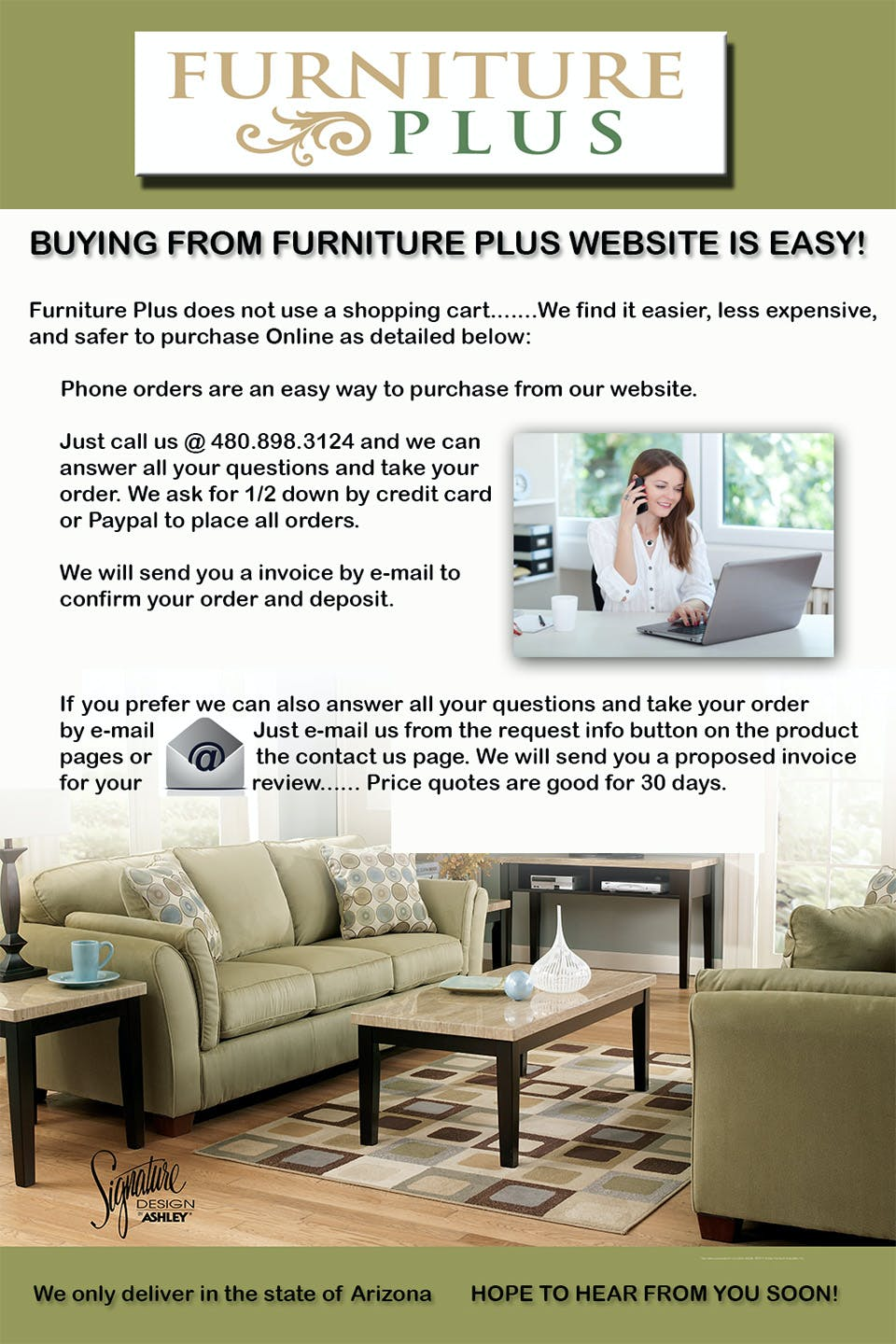 How to buy from Furniture Plus | Furniture Plus Inc | Mesa, AZ, 85203