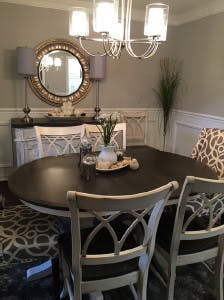 We Are So Delighted With The Table And Chairs We Purchased From Brashears  In Fayetteville! We Love The Contrasting Ivory And Deep Grey Finishes That  Allowed ...
