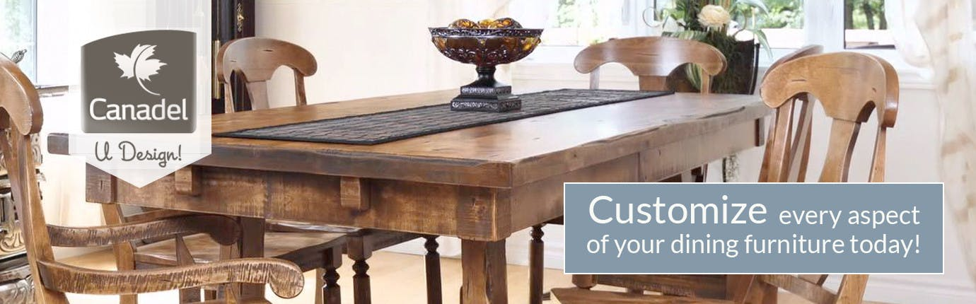 Canadel U Design, Customize every aspect of your dining furniture today!