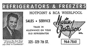 Gustafson S Furniture Was Elished In 1928 By Martin A Small On 7th Street Rockford Il At The Time They Also Sold Vacuums