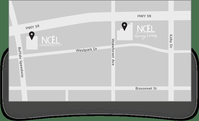 Noel Map. LocalText. Noel Furniture