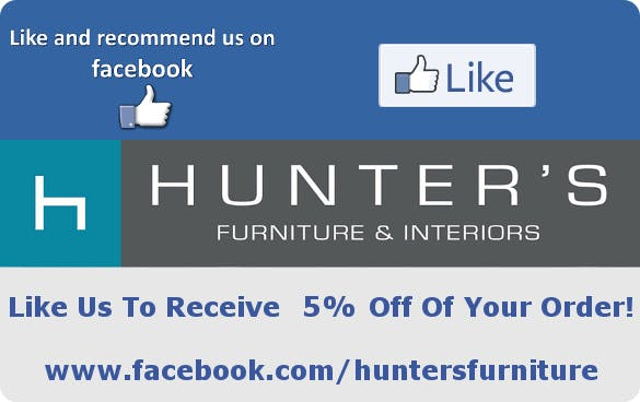 Like Hunters Furniture on Facebook