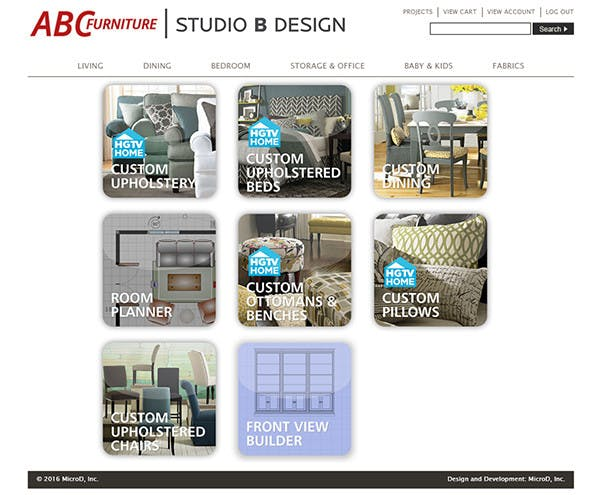 Studio B Design Program Screen Shots