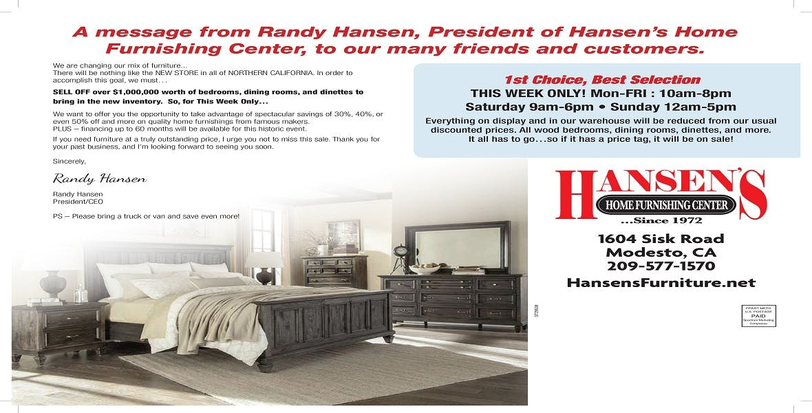 Hansen S Home Furnishing Center Furniture Store Winton And Modesto