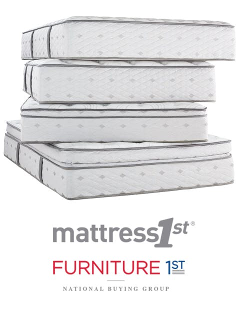 stack of mattresses. Mattress 1st Products Are Only Available From Retailers Who Belong To The  Furniture First Purchasing Cooperative. Members Of Cooperative Stack Mattresses