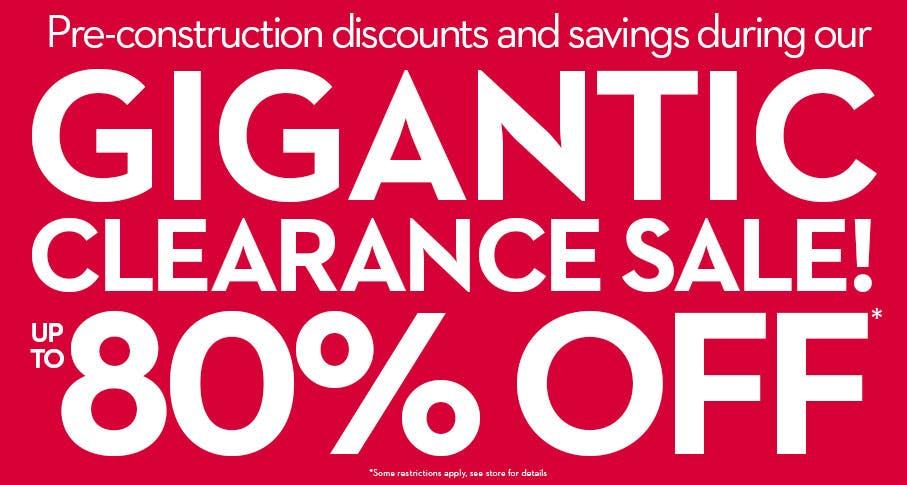Huge Discount Sale