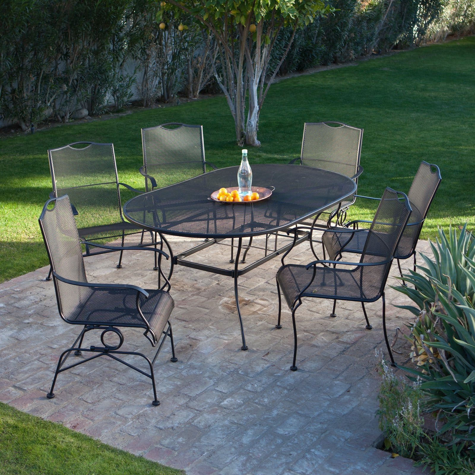 For Woodard Wrought Iron Furniture At Turner Home In