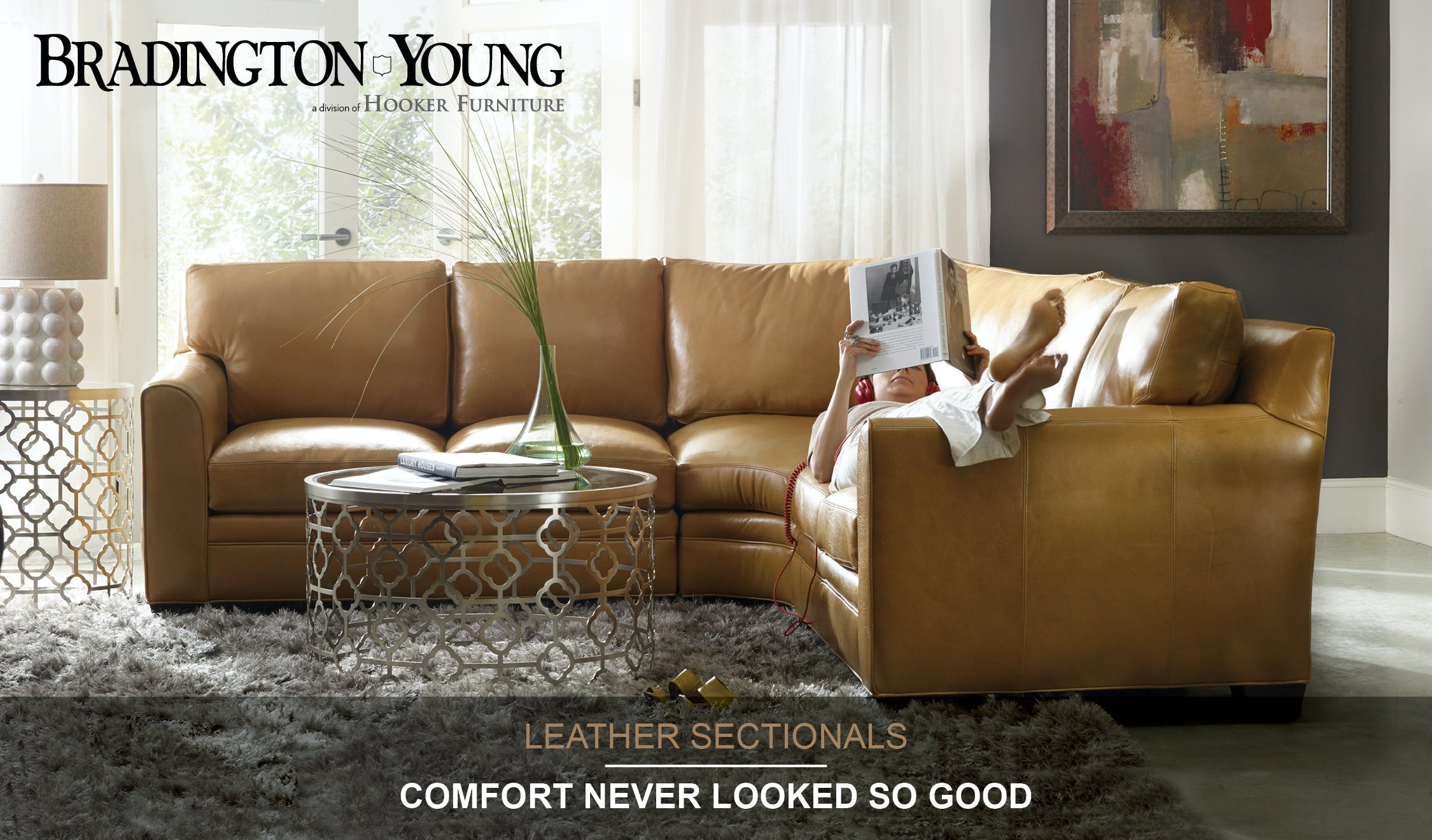 942 brown leather sectional signature ashley furniture - 942 Brown Leather Sectional Signature Ashley Furniture